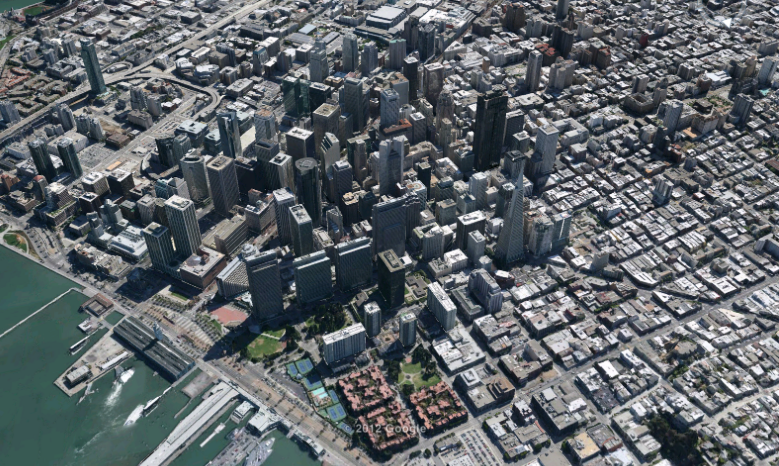 3D тур по городу в картах Apple
